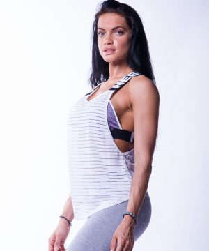 Sport Tank Top Dames Wit Wrap Up Nebbia 626 3