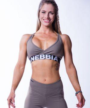 Sporttop Dames Open Back Mokka Nebbia 620 1