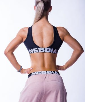 Sporttop Dames Zwart Crossed Nebbia 622 2