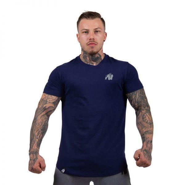 bodybuilding-t-shirt-mannen-blauw-gorilla-wear-detroit-1