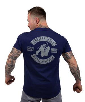 bodybuilding-t-shirt-mannen-blauw-gorilla-wear-detroit-2
