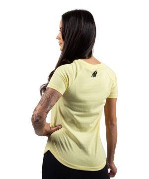 635bcc2a571 Fitness T-shirt Zwart Goud - Gorilla Wear Luka - Fitnesskledingshop.com