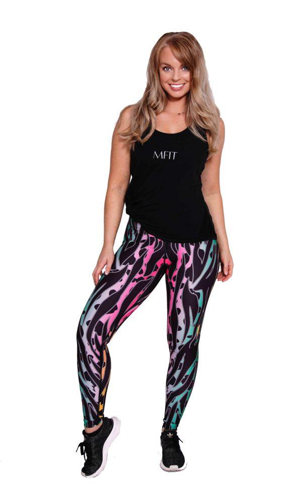 Fitness Legging Dames Printed - Mfit-3
