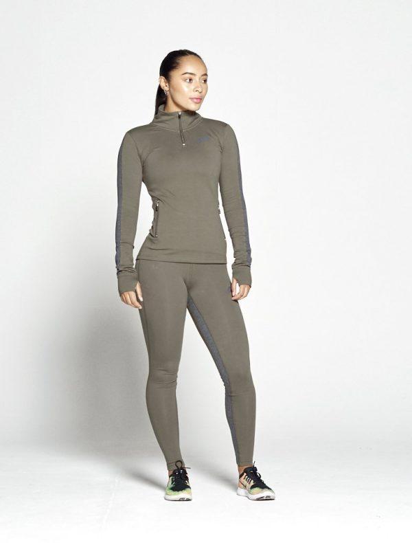 Fitness Legging Dames Profit Kaki - Pursue Fitness 1