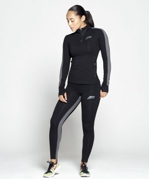 Fitness Legging Dames Profit Zwart Grijs - Pursue Fitness 1