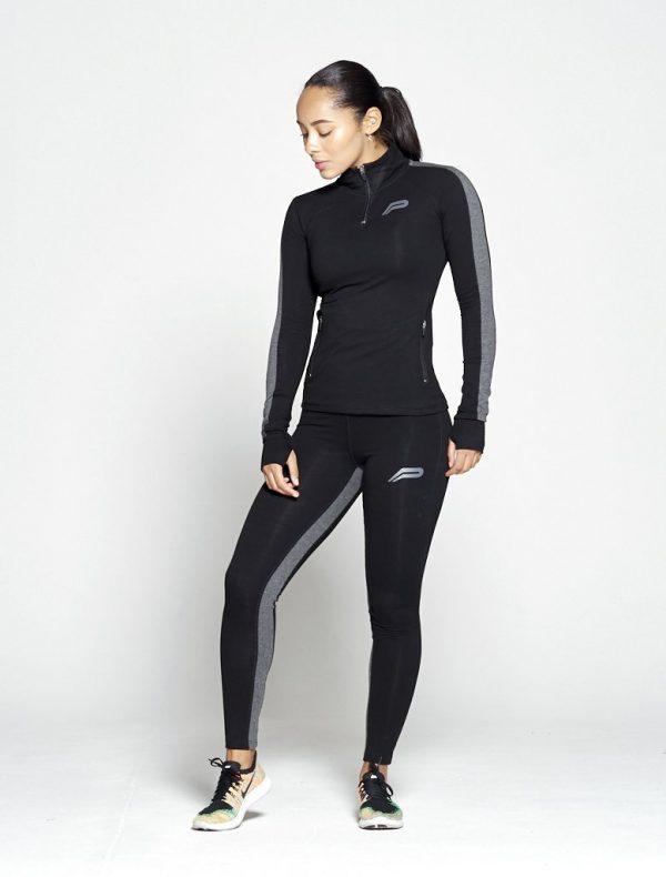 Fitness Legging Dames Profit Zwart Grijs - Pursue Fitness 1