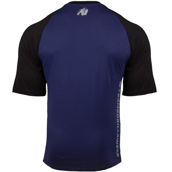 Fitness Shirt Heren Blauw_Zwart - Gorilla Wear Texas-3