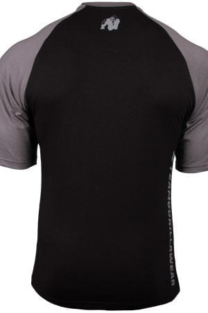Fitness Shirt Heren Zwart_Donkergrijs - Gorilla Wear Texas-1