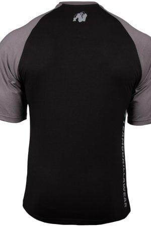 Fitness Shirt Heren Zwart_Donkergrijs - Gorilla Wear Texas-1