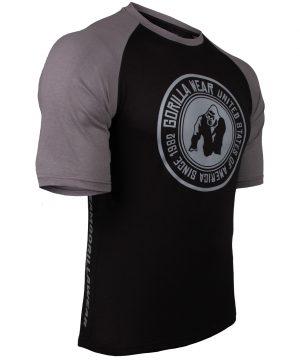 Fitness Shirt Heren Zwart_Donkergrijs - Gorilla Wear Texas-2