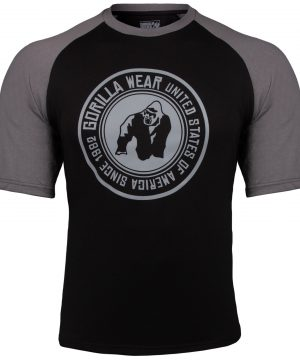 Fitness Shirt Heren Zwart_Donkergrijs - Gorilla Wear Texas-3
