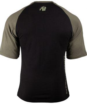 Fitness Shirt Heren Zwart_Groen - Gorilla Wear Texas-2