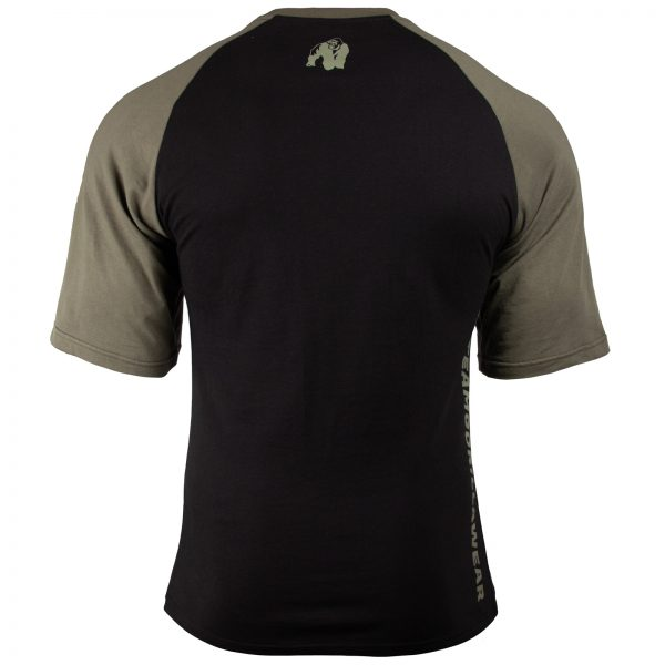 Fitness Shirt Heren Zwart_Groen - Gorilla Wear Texas-2