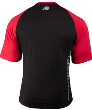Fitness Shirt Heren ZFitness Shirt Heren Zwart_Rood - Gorilla Wear Texas-Zwart_Rood - Gorilla Wear Texas-2