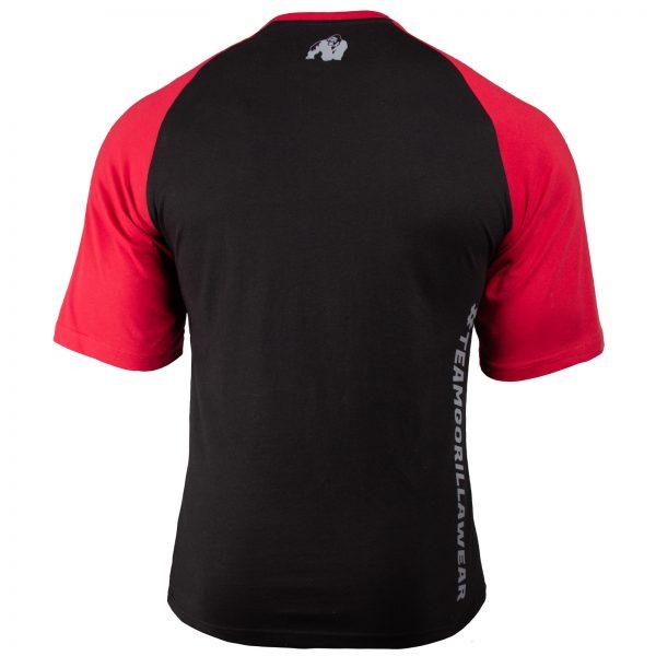 Fitness Shirt Heren ZFitness Shirt Heren Zwart_Rood - Gorilla Wear Texas-Zwart_Rood - Gorilla Wear Texas-2