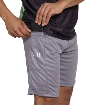 Fitness Short Heren Basic Grijs - Mfit-1