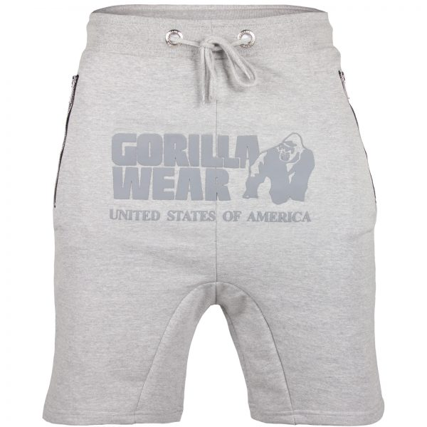Fitness Shorts Heren Grijs - Gorilla Wear Alabama Drop Crotch-1