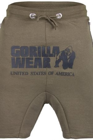 Fitness Shorts Heren Groen - Gorilla Wear Alabama Drop Crotch-1