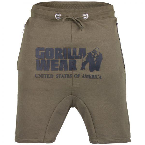 Fitness Shorts Heren Groen - Gorilla Wear Alabama Drop Crotch-1
