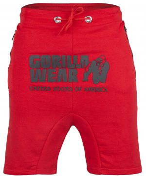 Fitness Shorts Heren Rood - Gorilla Wear Alabama Drop Crotch-1