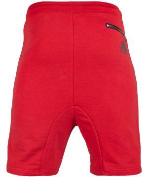Fitness Shorts Heren Rood - Gorilla Wear Alabama Drop Crotch-2