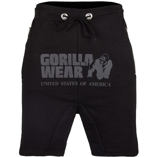 Fitness Shorts Heren Zwart - Gorilla Wear Alabama Drop Crotch-1