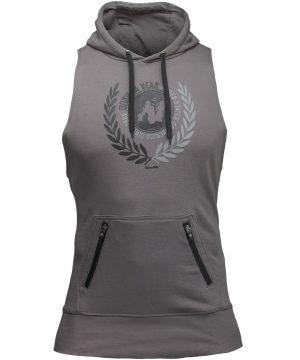 Fitness Sleeveless Hoodie Grijs - Gorilla Wear Manti-1