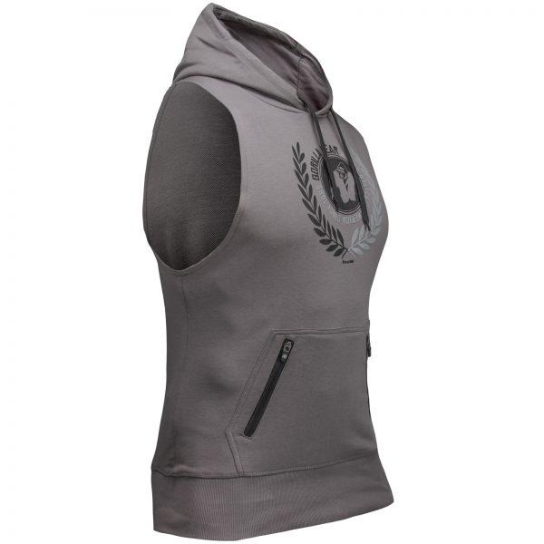 Fitness Sleeveless Hoodie Grijs - Gorilla Wear Manti-2
