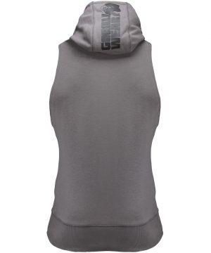 Fitness Sleeveless Hoodie Grijs - Gorilla Wear Manti-3