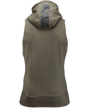 Fitness Sleeveless Hoodie Groen - Gorilla Wear Manti-1