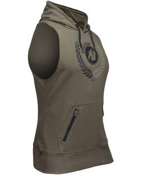 Fitness Sleeveless Hoodie Groen - Gorilla Wear Manti-2