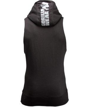 Fitness Sleeveless Hoodie Zwart - Gorilla Wear Manti-3
