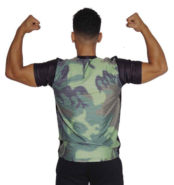 Fitness T-shirt Heren Compressie Camo - Mfit-2