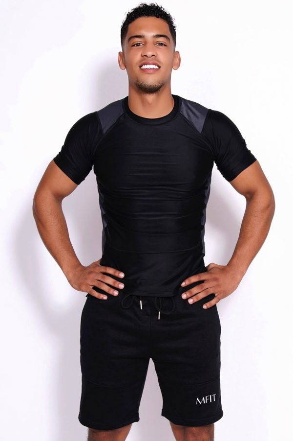 Fitness T-shirt Heren Tightly Zwart - Mfit-1
