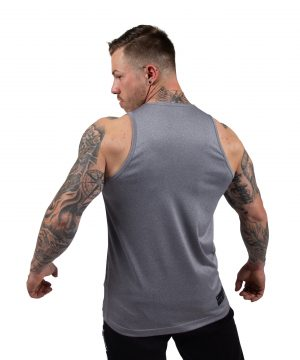 Fitness Tanktop Heren Grijs - Gorilla Wear Rockford-1