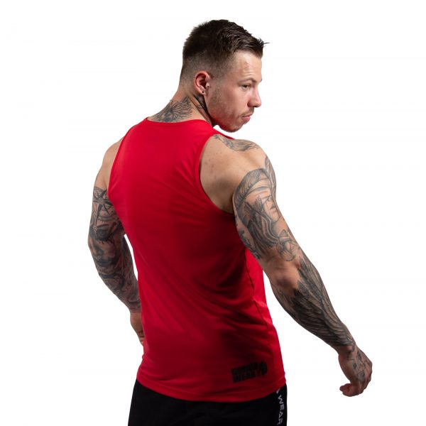Fitness Tanktop Heren Rood - Gorilla Wear Rockford-2