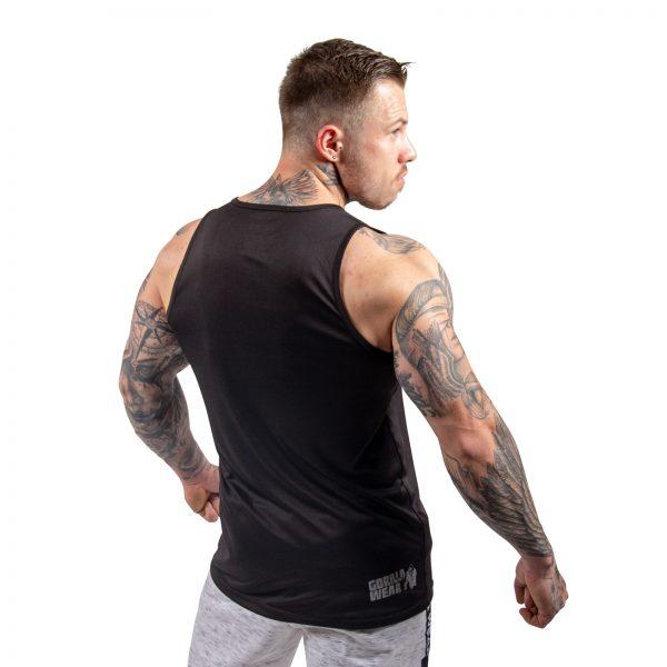 Fitness Tanktop Heren Zwart- Gorilla Wear Rockford-