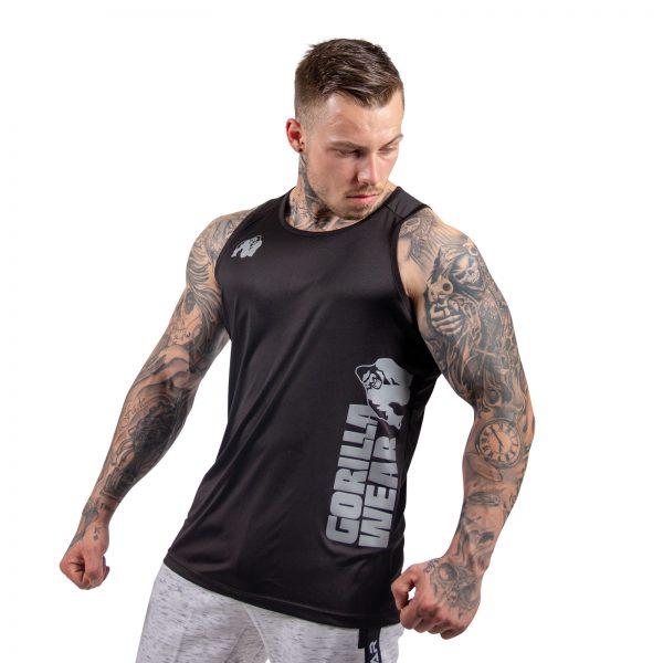 Fitness Tanktop Heren Zwart - Gorilla Wear Rockford-2