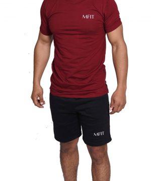Fitness Zipper Heren Lang Rood - Mfit-1