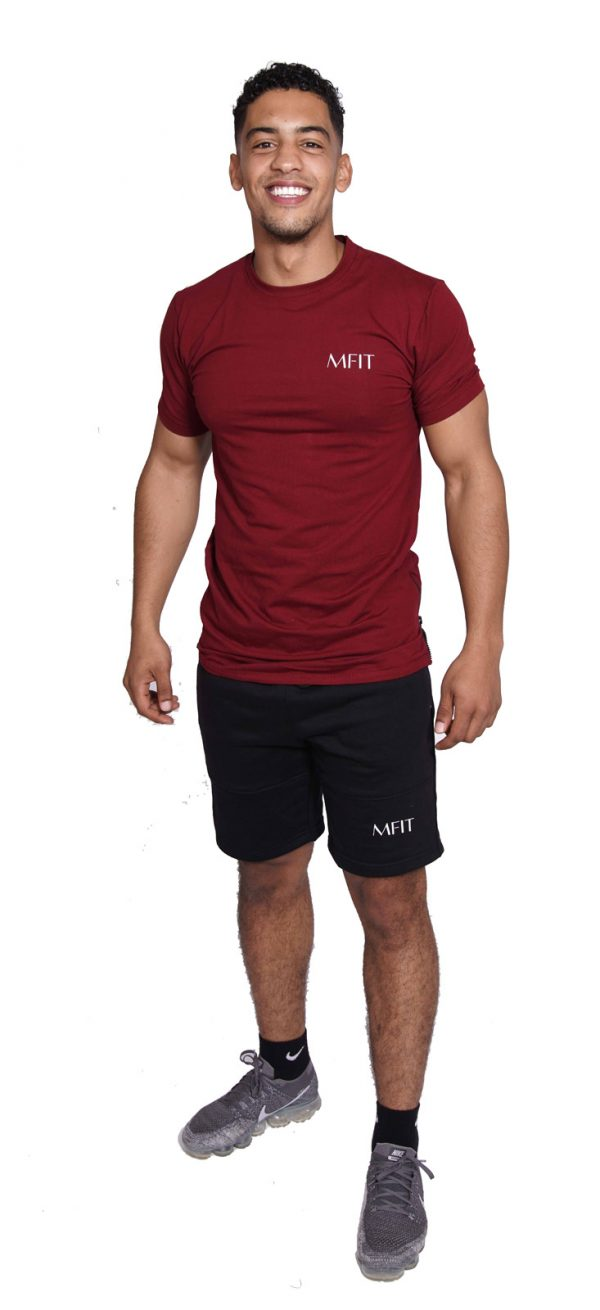 Fitness Zipper Heren Lang Rood - Mfit-1