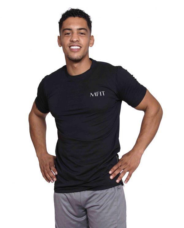 Fitness Zipper Heren Lang Zwart - Mfit-1