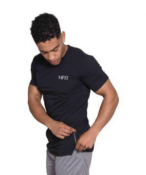 Fitness Zipper Heren Lang Zwart - Mfit-2