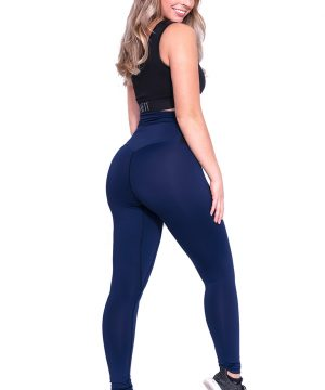 Fitness legging Dames Blauw-Zwart - Mfit-2