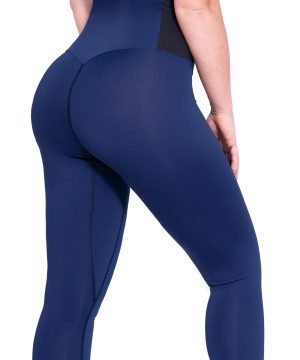 Fitness legging Dames Blauw-Zwart - Mfit-3