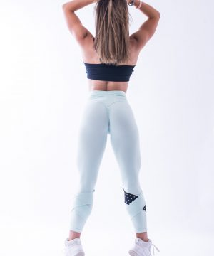 Sportlegging Dames Nebbia 639 Mint-Zwart-2