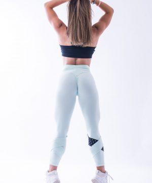 Sportlegging Dames Nebbia 639 Mint-Zwart-2