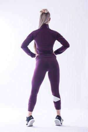 Sportlegging Dames Nebbia 639 Rood-Vanille -2