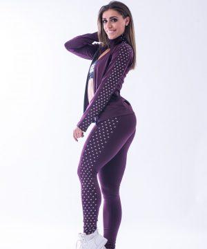 Sportlegging Dames Nebbia 653 Aubergine -2