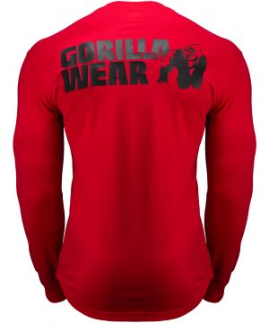 Fitness Longsleeve Rood - Gorilla Wear Williams 2