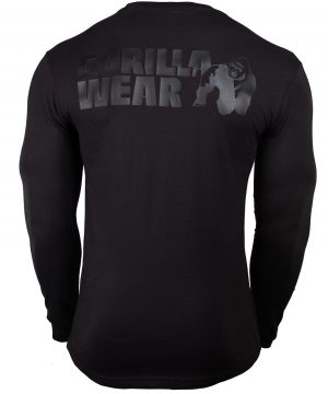Fitness Longsleeve Zwart - Gorilla Wear Williams 2